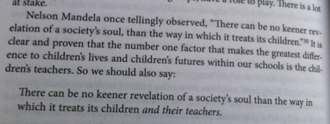 From Fullan and Hargreaves: Professional Capital.  Transforming Learning in Every School, 2012.