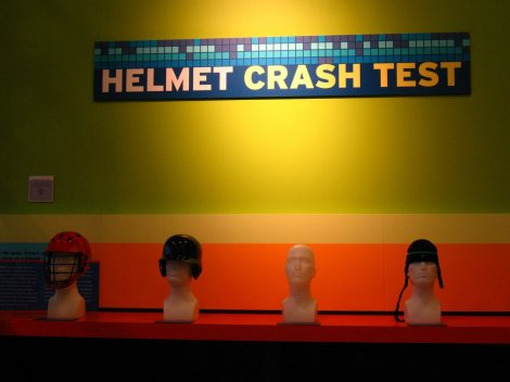 helmet crash test