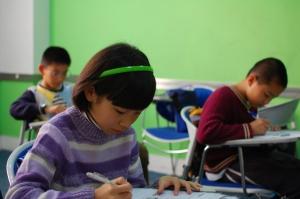 kid in classroom