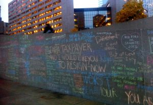 Citizens show their anger at Toronto City Hall