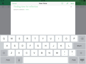 evernote take a note