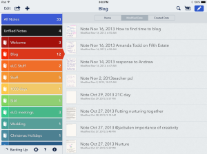 notability organizes written notes