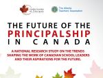 The Future of the Principalship in Canada