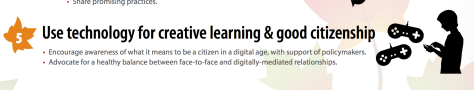 Use technology for creative learning and good citizenship