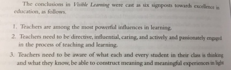 From Hattie, Visible Learning for Teachers