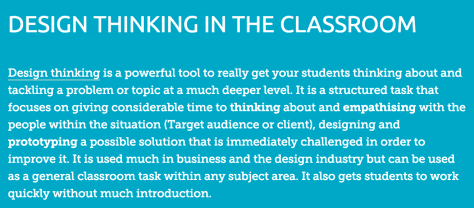 From @eduwells Richard Wells http://eduwells.com/2015/02/04/design-thinking-in-the-classroom/